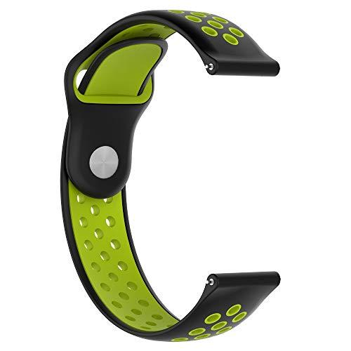 Uhr Armband, Malloom Sportweiches Silikon Ersatz Bügel Armband für Xiaomi Huami AMAZFIT 2 / 2S Grün