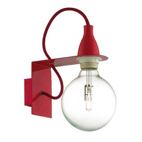 Luminaire applique Ideal Lux MINIMAL AP1 ROSSO