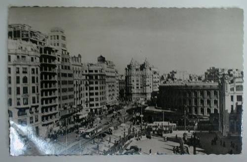 Antigua postal fotográfica. Old photo post card. Nº 209 - VALENCIA - Calle de Játiva