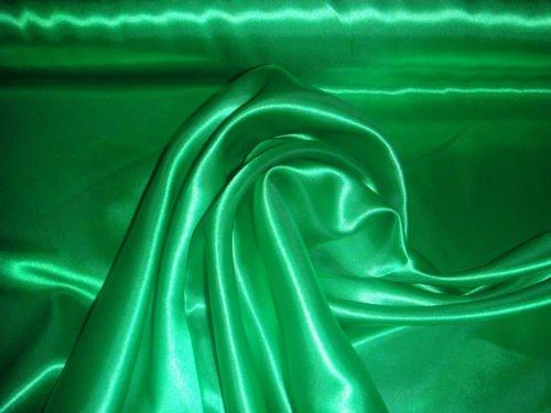 1Meter Satin Stoff Dekostoff 150cm Breit (Grün)