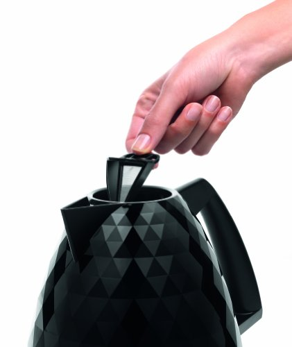 De'Longhi Brillante Faceted Jug Kettle, 3 KW – Black