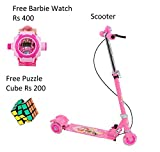 #5: Kids Foldable 3 Wheeler Cycle Height Adjustable with Hand break, Bell and LED Lights On Wheel Free Barbie Watch Rs 400 + Free Puzzle Cube Rs 200-Kids Kart