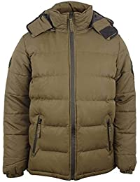 Bellfield Ludlow Hooded Puffa Jacket Khaki