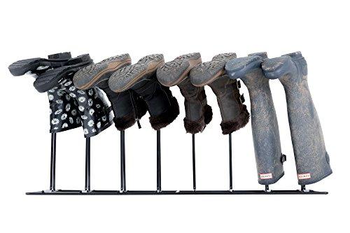 4Paar schwarz Stiefel Schuh Welly Ständer Aufbewahrung Organizer Voll verschweißt