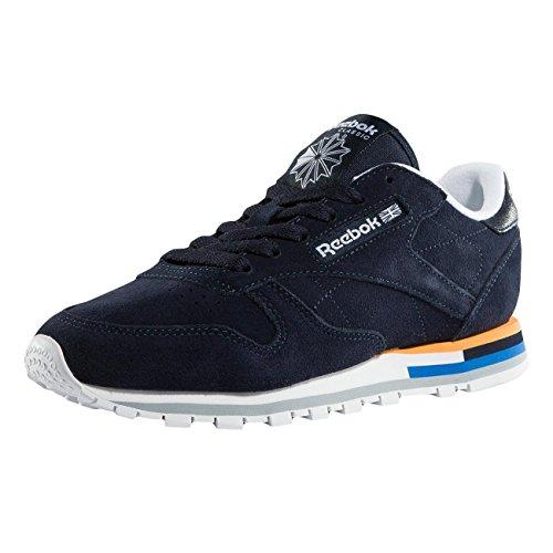 Reebok Classic Leather Mh, Chaussures De Sport Basses Indigo Pour Femme