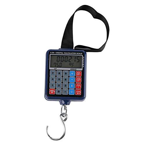 Atyhao Ampio Display LCD Portatile Bilancia Elettronica Digitale per Appendere Perfetto per pesare Bagagli, Espresso, Verdura e Frutta (Batteria Non Inclusa)