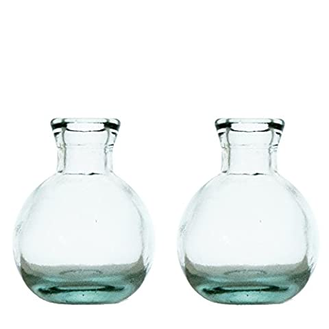 Grehom Bud Vase - Pot Belly (Set of 2); Made of Recycled Glass