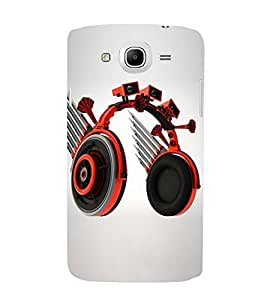 Blue Throat pic of Animated red Headphones Back Case Cover for Samsung Galaxy Mega 5.8 I9150 :: Samsung Galaxy Mega Duos 5.8 I9152