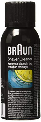 Braun Reinigungsspray für elektrische Rasierer / Rasierapparate, 100 ml