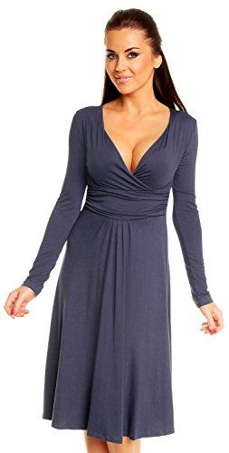 zeta-ville-vestito-a-pieghe-manica-lunga-jersey-sexy-vestito-donna-890z-blu-grigio-46