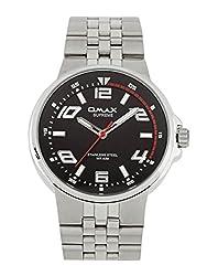 OMAX Analog Black Dial Mens Watch - SS443