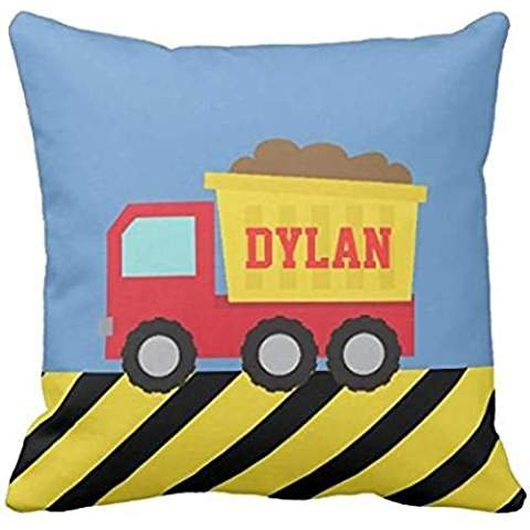 Red and Yellow Dump Truck, For Kids pillow case - Red Dump Truck