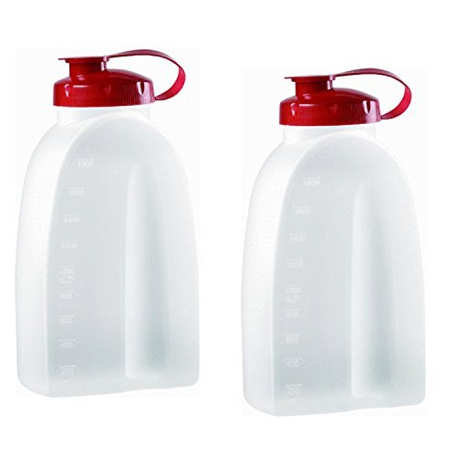 Rubbermaid 3092 725410731145 Servin Saver White Bottle 2 Qt. (Pack of 2), 2 Pack, Clear Servin Saver