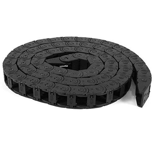 Ouverture 10mm x 11mm en plastique noir Fil transporteur Drag chaîne 104cm long