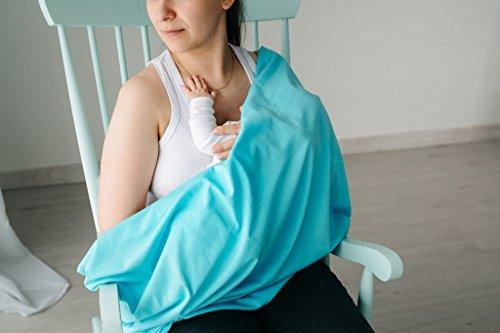 Stilltuch Infinity Stillen Schal 100% ECO Baumwolle atmungsaktiv made in Europa Hohe Qualität Stoff