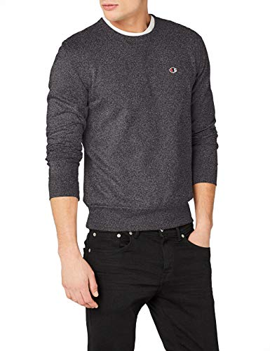 Champion Crew Sweatshirt (Champion Herren Crewneck C-Logo Sweatshirt, Schwarz (Znbkj), X-Large)