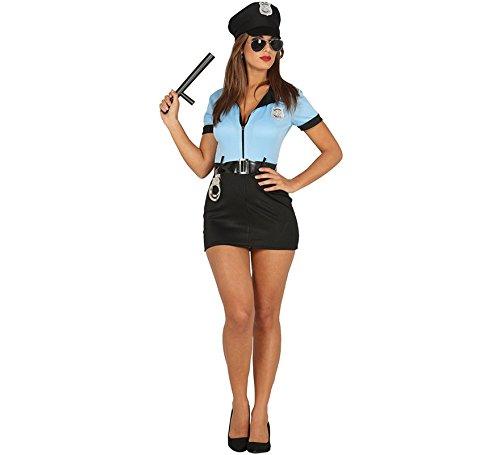Imagen de disfraz de policía sexy con cremallera para mujer