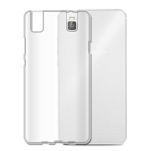 Hülle für Huawei Honor 7I, E-Hamii Handyhülle Transparenter TPU Abdeckungs Fall, überlegener Silikon-Schutzhülle, Stoß-Stoßdämpfer und Anti-Kratzen, Leicht, wirtschaftlich und praktisch