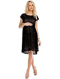 493d24db053e My Tummy Vestito Donna Premaman Scarlett Pizzo Nero Abbigliamento Premaman  Abiti Eleganti di maternità