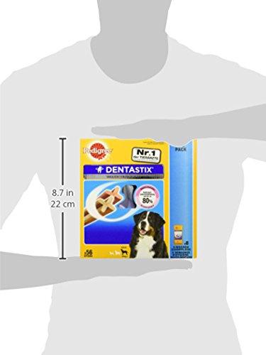 Pedigree DentaStix Hundesnack für große Hunde (25kg+), Zahnpflege-Snack mit Huhn und Rind, 1 Packung je 56 Stück (1 x 2.16 kg) - 5