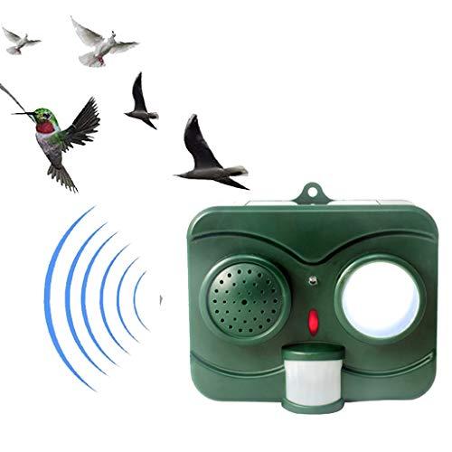 Outdoor Ultraschall-Tierreaktor, Solar Powered Waterproof LED Flashing Light PIR Motion Sensor Sound-Imitation für Fledermaus Ultraschall-Repeller,1pack
