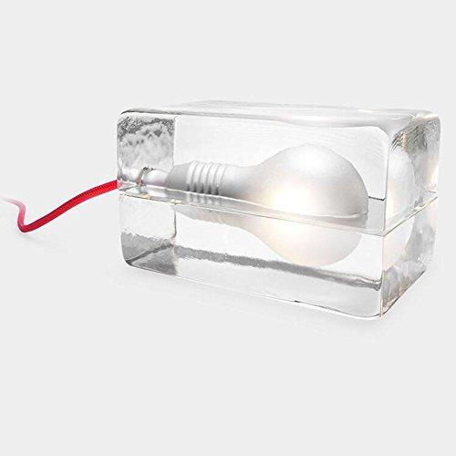 Cristal creativo de hielo cabecera lámpara de mesa de la decoración