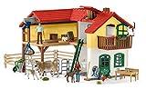 Schleich - Granja con establo y animales. Set con Figuras, Accesorios...