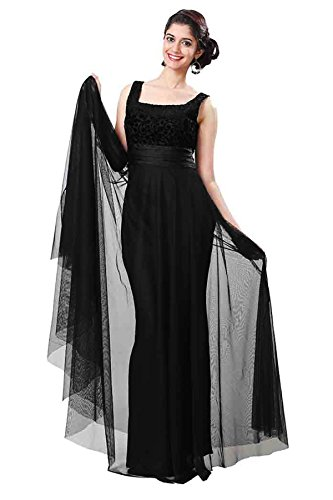 Home Deal Women\'s Dress (Gulaboblack_Black_Free Size)