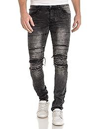BLZ jeans - Jean noir délavé et troué