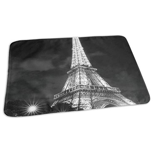 Voxpkrs Changing Pad Eiffel Tower at Night Baby Diaper Urine Pad Mat Personalized Kids Mattress Pad Sheet for Any Places for Home Travel Bed Play Stroller Crib Car