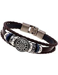 A Bracelet En Cuir RéTro En Cuir Tricoté En Cuir (20 * 1cm)