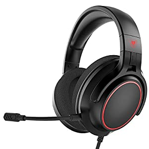 NUBWO Xbox One Headset PS4 Stereo-Surround Gaming-Headset mit abnehmbarem Noise Cancelling-Mikrofon, weichem Plüsch-Memory-Ohrenschützer über dem Ohr, kompatibel mit PC, PS4, Xbox One, Nintendo