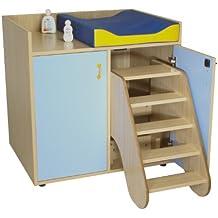 mobeduc 2puertas muebles para cambiar pañales con medidas, madera, lavanda azul