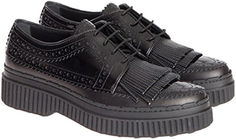 Tod's scarpe à Lacets Femme en Cuir Verni nero nero nero   Di Prima Qualità  608d78