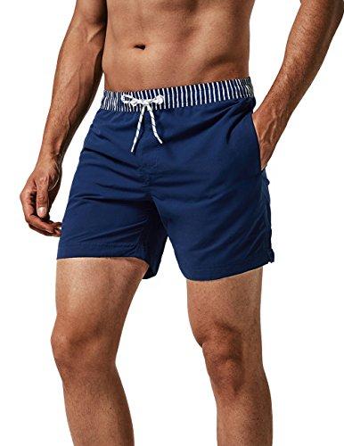 MaaMgic Homme Short de Bains Maillot de Bain avec Filet Style Tropical Voyage Pants Court de Sport Séchage Vite Bien pour Vacance a la Plage, Glm-3, Medium(tour de taille:84~89cm)