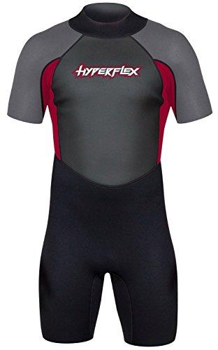 Hyperflex pour homme accès 2,5mm Fermeture Éclair au dos Combinaison Printemps, Red