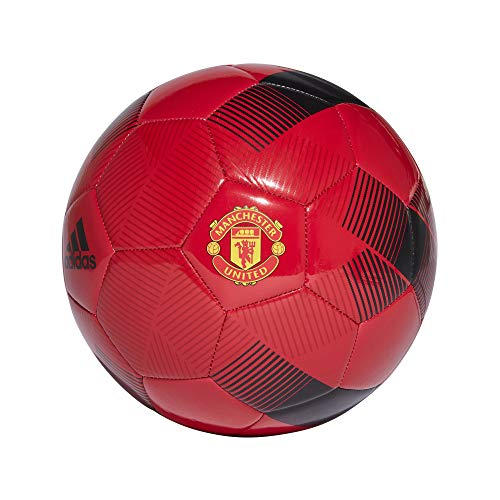 adidas Herren Manchester United FC Football Fußball, Real Red/Black/Power Red, 5