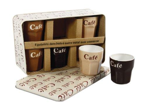 Lotto di 6 tazzine per caffè