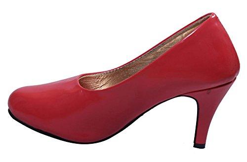 John Sparrow casual talons hauts élégants souliers de femme ventre sandale - choisir la taille Rouge