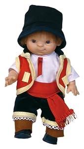 Paola Reina - Paolito, muñeco bebé con Traje Regional Canario, 22 cm (00597)