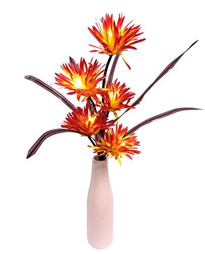 Flair Flower Leuchtgerbera x 5, in Vase, Stoff, orange, 65 x 20 x 16 cm