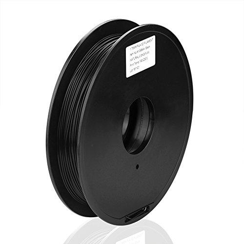 SIENOC 1 Packung 3D Drucker PLA 1.75mm Printer Filament - Mit Spule (0.5KG Schwarz)