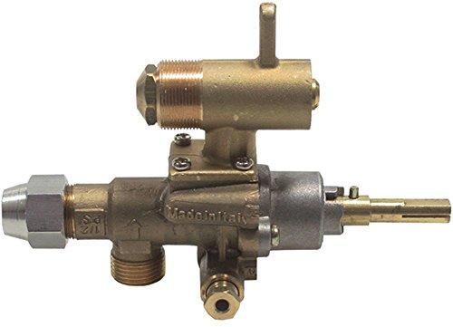 EGA-Alternativ GPEL22D Gashahn für Electrolux mit Düsenausgang und Düse Thermoelementanschluss M8x1 Achse 8x7x34/15mm 2,2mm -