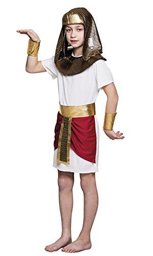 Halloweenia - Jungen Pharao Kostüm, Karneval, Fasching, Mehrfarbig, Größe 140-152, 10-12 Jahre