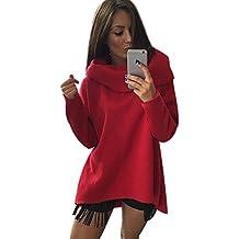 ISSHE Sudaderas Largas Mujer Sudaderas Sin Capucha Estampadas Chica Jerseys Sudadera Deportivas Camisetas de Manga Larga