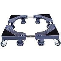 LYXPUZI Base de la Lavadora de Acero Inoxidable - Chasis Impermeable - Bandeja de Almohadillas de Soporte de Estante Alto Aparato Universal Ajustable Refrigerador y Pedestal del secador