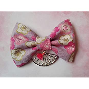 Kirschblüten Haarschleife, Sakura Haarspange, Haarklammer, Japan, Fächer, Haarschleife, Yukata