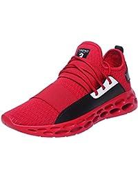 Oyedens Scarpe Sportive da Uomo Casual Sneakers Sports Scarpe da Corsa  Scarpe da Ginnastica Outdoor Tennis Shoes Lace-up Sneakers… a7fb57b1f7d