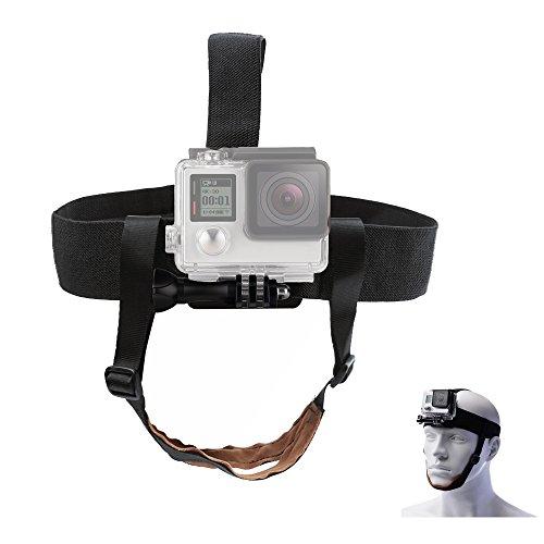TEKCAM Verstellbarer Kopfgurt Mount Kinngurt für GoPro Hero 5 Black Session Akaso EK7000 Apeman Crosstour Campark 4K Wasserdicht Action Kamera Skifahren Surfen Radfahren