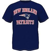 NEW ENGLAND PATRIOTS maglietta Apparel licenza ufficiale NFL, Blue, L